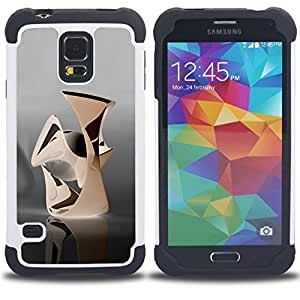 For Samsung Galaxy S5 I9600 G9009 G9008V - Abstract Dual Layer caso de Shell HUELGA Impacto pata de cabra con im??genes gr??ficas Steam - Funny Shop -