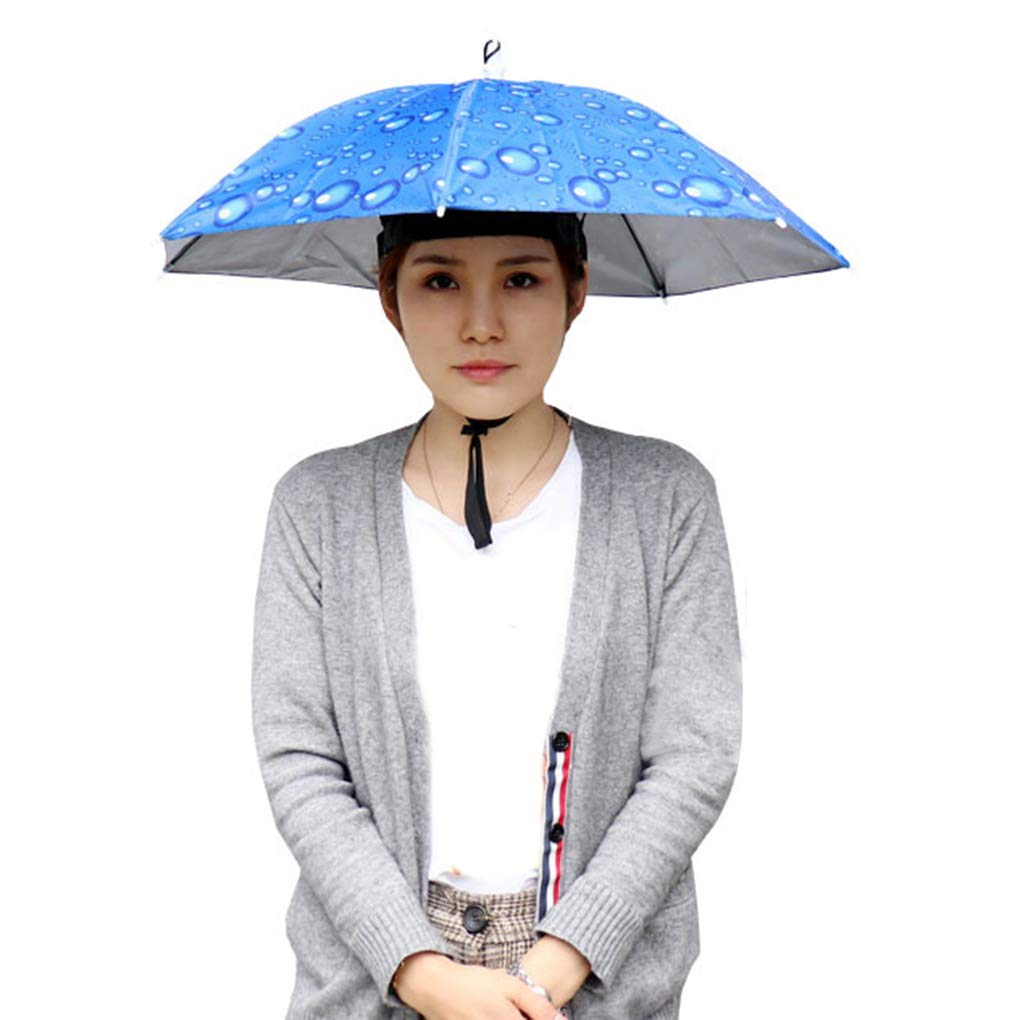 Im Freien Faltbare Schatten Regenschirm-Hut-Fischen Camping Kopfbedeckung Cap Picking Tee Kopf Regenschirm Regard L