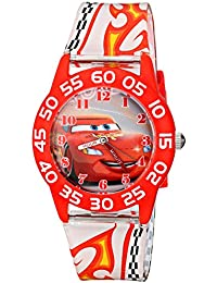 Kids' W001681 Cars Lightning McQueen Plastic Watch, Printed Band