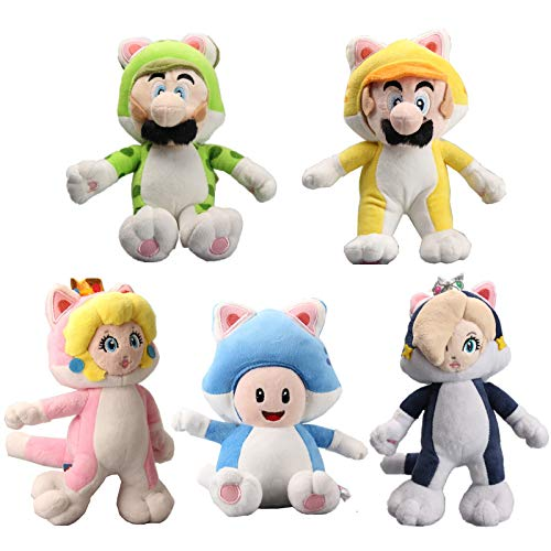 uiuoutoy Super Mario Bros. 3D World Neko Cat Mario Luigi Toad Peach Rosalina Plush 9
