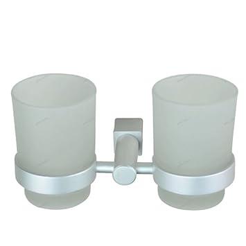 Taza de aluminio de espacio Copa porta vidrio diente Cepillo de dientes portavasos: Amazon.es: Bricolaje y herramientas