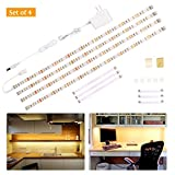 Wobane Under Cabinet Lighting Kit,Flexible LED Strip Lights Bar,Under Counter Lights for Kitchen,Cupboard,Desk,Monitor Back,Shelf,6.6 Feet Tape Light Set,UL Listed,120 LEDs,1100lm,2700K WarmWhite Review