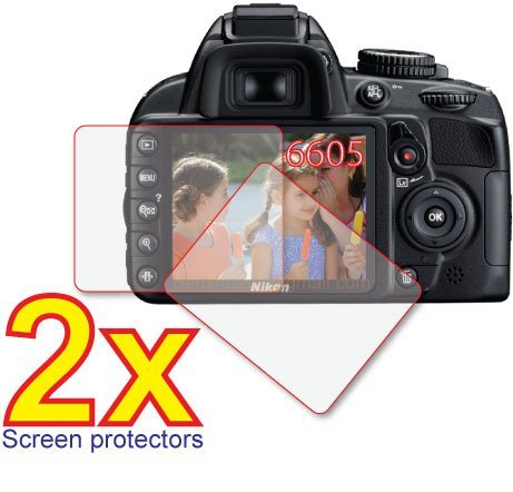 2x Nikon D-SLR D3100 D3000 Premium Clear LCD Screen Protector Cover Guard Film