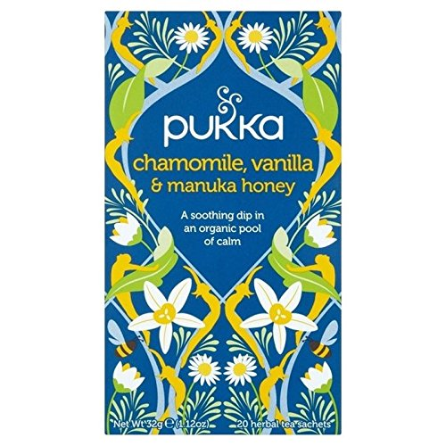 Pukka Chamomile, Vanilla & Manuka Honey Teabags 20 per pack