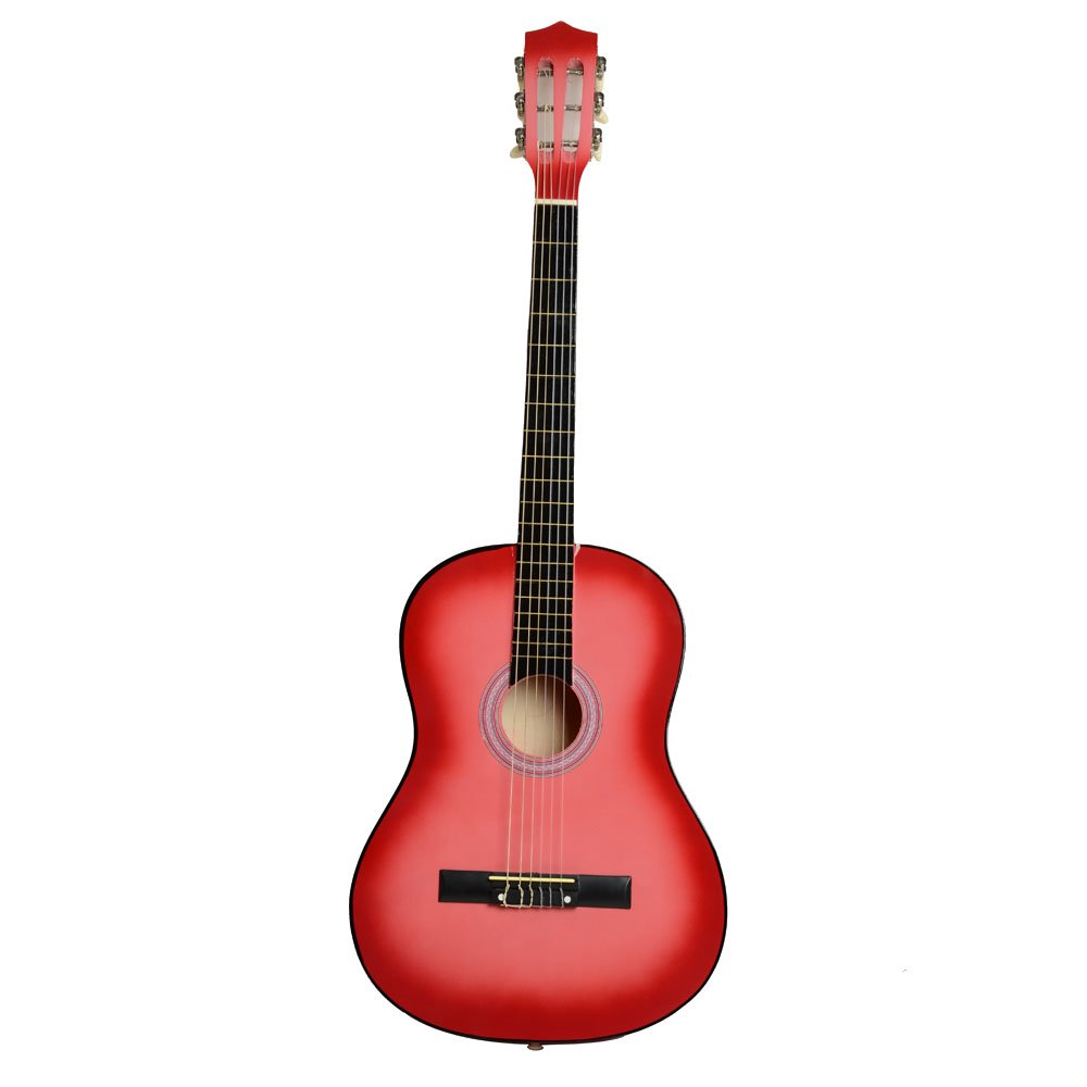 38'' Beginner Classical Guitar Starter Package Student Guitar With Gig Bag,Strap and Pick,Pink