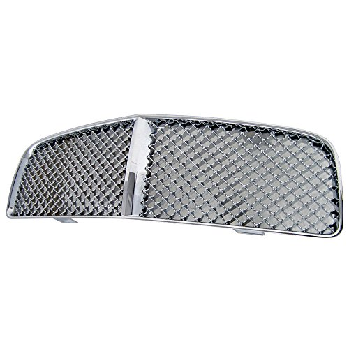 Grille Compatible With 2006-2010 DODGE CHARGER | Chrome Mesh Style ABS Chrome Front Bumper Hood Grill by IKON MOTORSPORTS | 2006 2007 2008 - Charger Dodge Grille