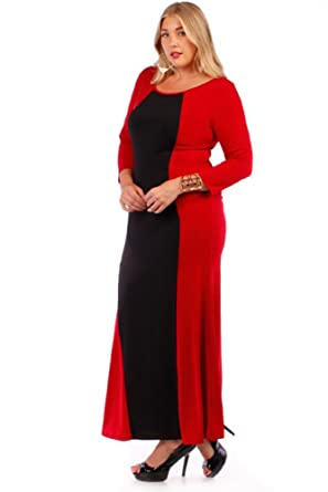 Plus Size 1x 6x Full Length 34 Sleeve Scoop Neck Dress Made In