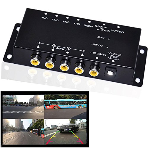 Cheap Auto Wayfeng WF IR control 4 Cameras Video Control Car Cameras Image Switch Combiner Box For Left view Right view Front Rear Parking Camera Box