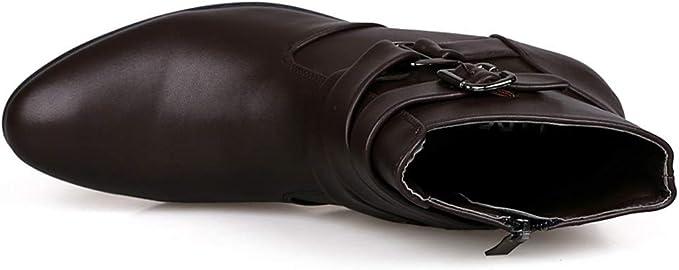 LILICAT❋ Botas Altas de Color Liso Botas de Hebilla de Cuero ...