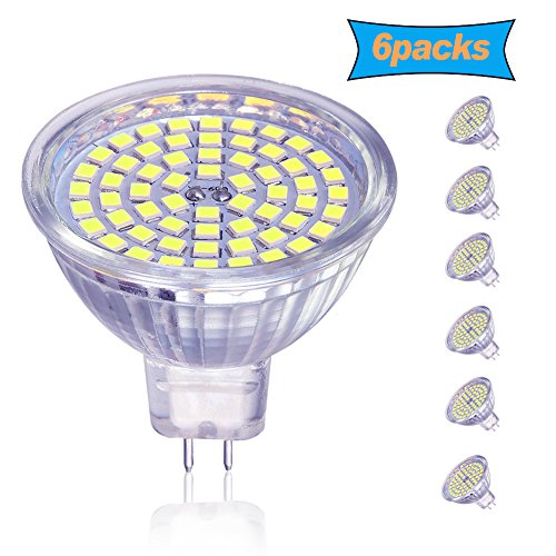 Mr16 Beam Angle (OTTOSEA MR16 LED Bulbs, GU5.3 LED Spotlight bulbs,5W (50 Watt Equivalent), 12V ACDC , Daylight White 6000K, 120 Degree Beam Angle for Landscape,Recessed,Track lighting, Non Dimmable, Pack of 6)