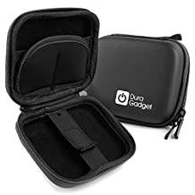 Black Hard EVA Shell Case with Carabiner Clip & Twin Zips for the Izzo Swami 5000 GPS|Swami GT|Swami Sport GPS - by DURAGADGET