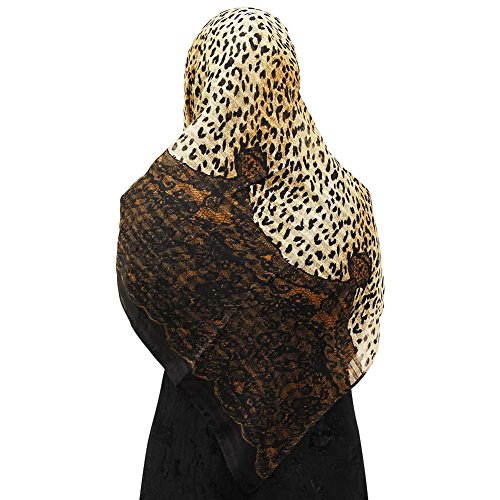 Cheetah Print and Snake Skin Pattern Muslims Women's Headscarf - Cheetah Snake Print