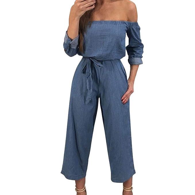 CICIYONER Tuta Casual con Pantaloni Lunghi Senza Bretelle Moda Donna  Amazon .it  Abbigliamento b689573d2f83