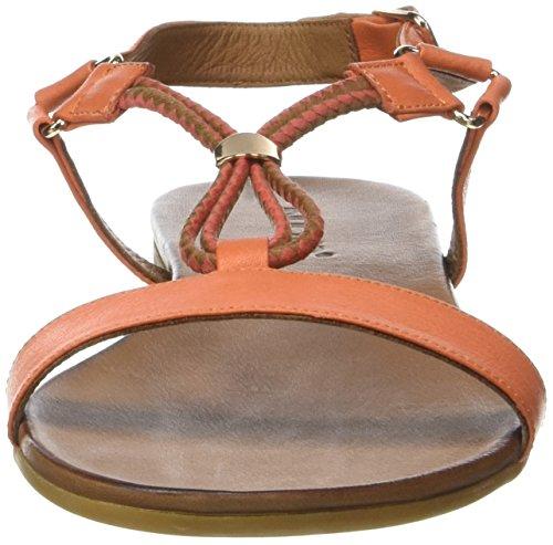 Inuovo 7114 - Sandalias Con Tira Vertical Mujer Orange (Sunburn)