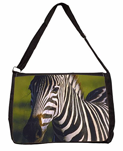 A Pretty Zebra Large 16 Black School Laptop Shoulder Bag RDFqwKa