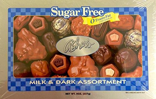 Asher's Sugarfree Milk & Dark Chocolate Assortment - 8oz Gift Box by Asher's