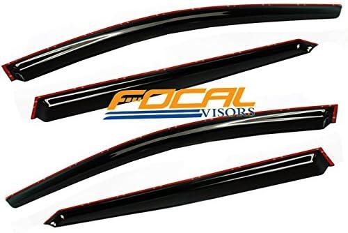 4 pcs Racingbees 2004-2008 Acura TL Side Window Visor 2005 2006 2007 Become Stylish
