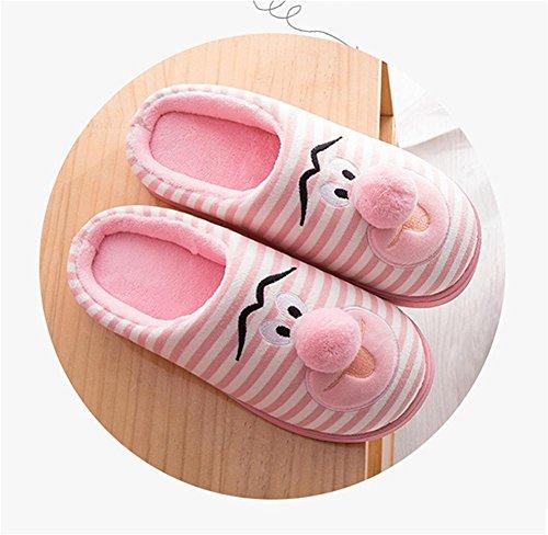 Automne Hommes Peluches Chauds Hiver on Anti Slip Pantoufles 001 Coton et Dérapant Femmes pour Confortable Chaussons WDGT Chaussons Chaussons wpxOpYq