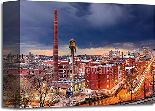 (Barewalls Richmond Skyline Gallery Wrapped Canvas Art (8 in. x 10 in.))