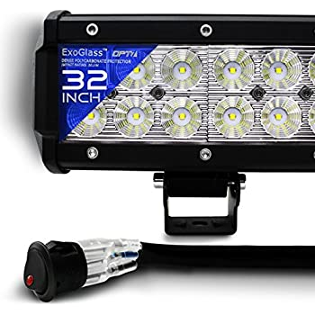amazon com opt7 c2 series 20 off road cree led light bar and opt7 c2 series 28 off road cree led light bar and harness spot auxiliary lamp 15500 lumen