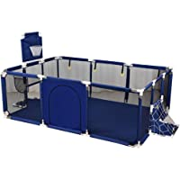 Baby Playpen Children's Play Fence with Basketball Stand Oxford Cloth Portable Baby Play Area Suitable for Baby/Toddler/Newborn