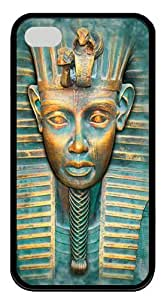 Big Face Tut TPU Case Cover for iPhone 4 and iPhone 4s Black by Maris's Diary
