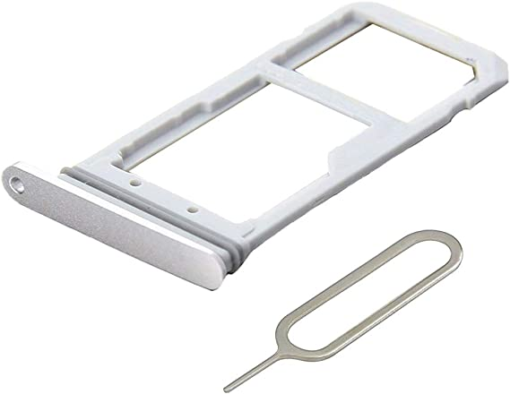Silver Ewparts Replacement for Samsung Galaxy S7 G930 Sim Tray Sim Tray Slot incl Open Eject Pin /& Clean Cloth
