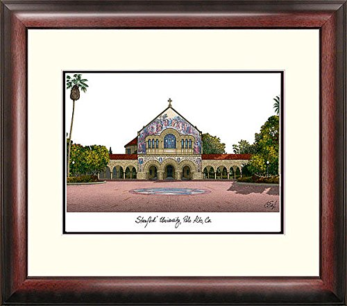 Stanford University Alumni Exquisitely Framed Imprinted Home Office Lithograph - Stanford Home Office