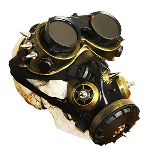 BAOYIT Industrial Gas Chemical Anti-Dust Respirator Mask Goggles Set Biohazard Steampunk Gas Mask]()