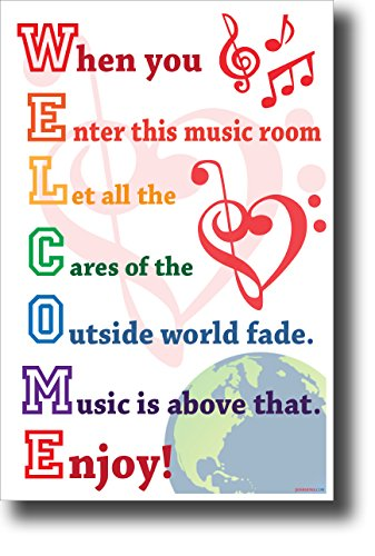 Music Bulletin Board (Welcome - When You Enter This Music Room. New Music Classroom Poster (Color A))