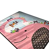 Cusphorn Modern Style Baby Play Mat for Floor, 59 x 78 Inches Reversible Thick, Extra Large Cotton Playmat for Boys and Girls