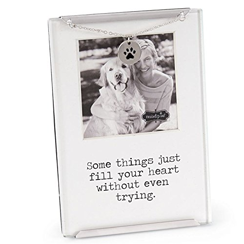 Mud Pie Memorial Pet Clip Frame, with Just a Memory Away Card | Pet Loss Gift Set