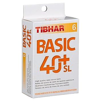 Tibhar Ball Basic 40+ SL 6er weiß St 78491200