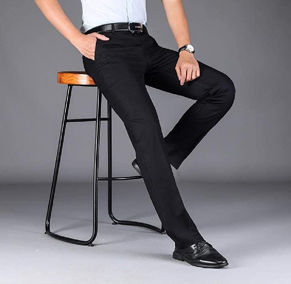 Comaba Mens Business Relaxed Fit Fit Straight Leg Modern Work Pants