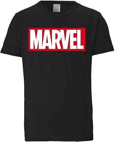 Logoshirt Marvel Comics - Marvel Logo - Camiseta Hombre - Negro - Diseño Original con Licencia: Amazon.es: Ropa y accesorios