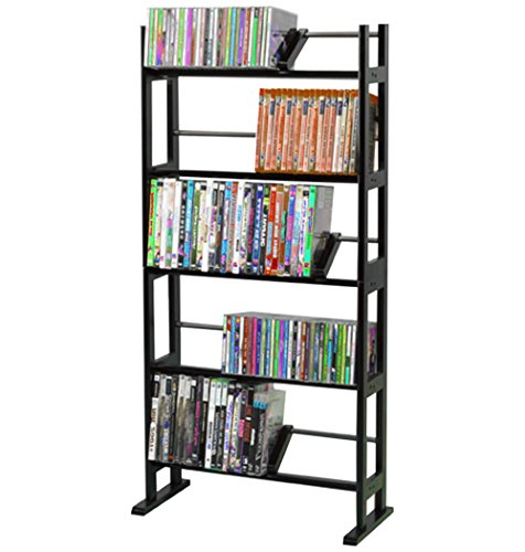 GT Multimedia Storage Rack DVD Media CD Cabinet Rack Shelf Tower Book Disc Tier Organizer for Bedroom Living Room Ebook by AllTim3Shopping.