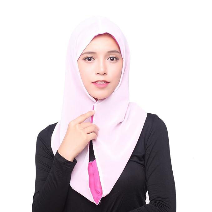 GladThink Frauen-Eis-Silk Muslim Hijab Kopftuch