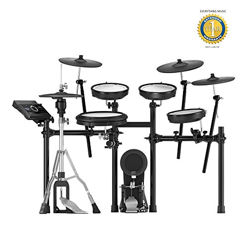Roland TD-17KVX V-Drums Electronic Drum Set with Microfiber and Free EverythingMusic 1 Year Extended Warranty