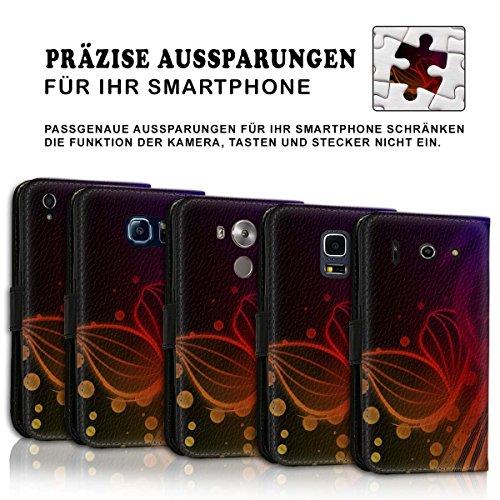 Wallet Book Style Flip Handy Tasche Case Schutz Hülle Schale Motiv Etui für Apple iPhone 6 Plus / 6S Plus - Design Flip MV259