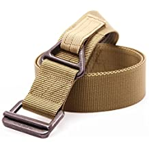 FAIRWIN Tactical Riggers Belt, Men's Military Style Nylon Outdoor Security Combat Webbing Belt