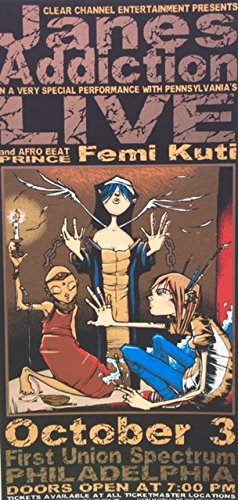 Jane's Addiction Handbill 2001 mini-poster with Live & Femi Kuti