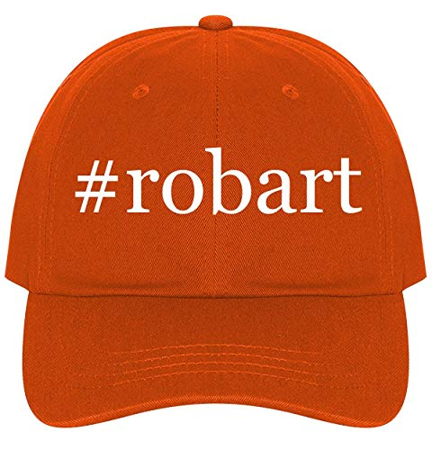 - The Town Butler #Robart - A Nice Comfortable Adjustable Hashtag Dad Hat Cap, Orange