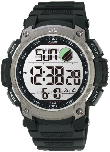 Q amp;Q Standard Dual Time Digital White Dial Men #39;s Watch M119J002Y