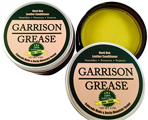 Garrison Grease Hard-Use Leather Conditioner - Nourishes - Preserves - Protects: Superior Non-Toxic Formula by Garrison Leather Care