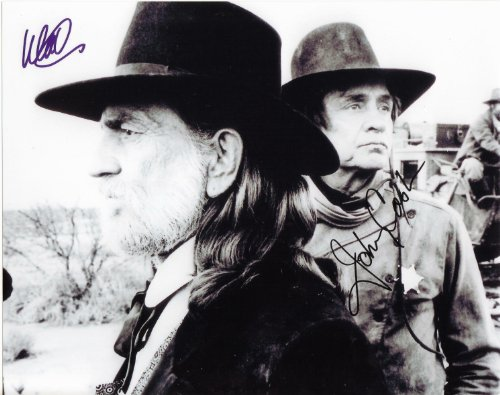 Willie Nelson & Johnny Cash in Stagecoach Movie Still Autographed Signed 8 X 10 Reprint Photo - (Mint Condition)
