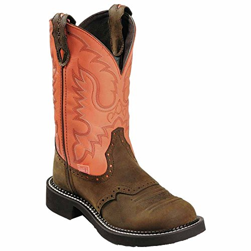 Ladie's Pebbled L9907 Brown Boots Justin Boots EqTwY4Z