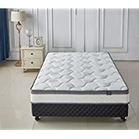 Aloe Vera 9- Inch Memory Foam & Spring Full Mattress - Cool & Gel Infused - Plush Double Layered, Full