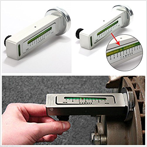 USonline911 Professional DIY Magnetic Car Camber Castor Strut Wheel Alignment Gauge Tool ()