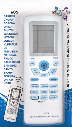 AC Remote Control For Carrier, Trane, Toshiba, Sanyo, Mitsubishi, Fujitsu, Hitachi, Haier, LG, York, Midea, Panasonic, Sharp, Samsung, Kelon, Hyundai, Gree, Funai, Daikin, Rowa, Goldstar, Daewoo by Solrus (Image #3)