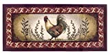 Kitchen Rugs Decor Brumlow Mills Prancing Rooster Kitchen Rug, 20-Inch by 44-Inch, Brick